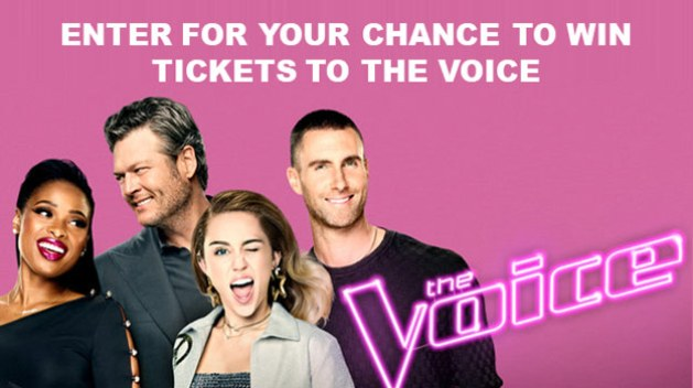 The Voice 2017 Sweepstakes, sponsored in part by Morongo Casino