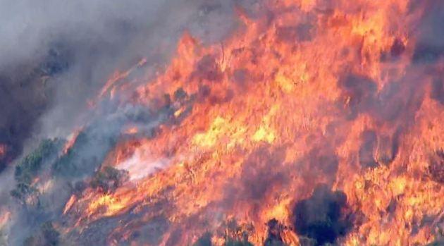 [LA] No Homes Lost in Duarte Azusa Fires