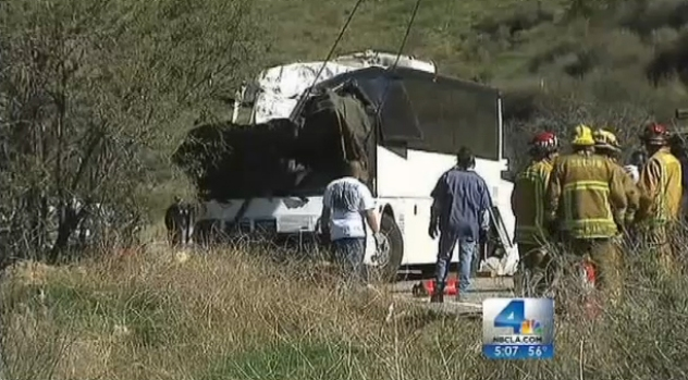 [LA] Investigation Under Way Into Fatal Tour Bus Crash