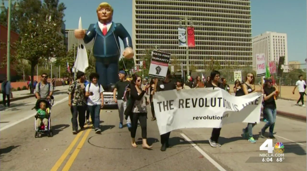 Thousands Rally in Downtown LA for May Day March