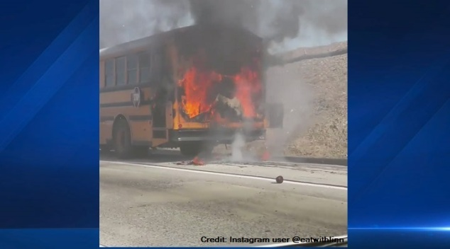Student-Filled Bus Catches Fire on Freeway, All Escape Safely