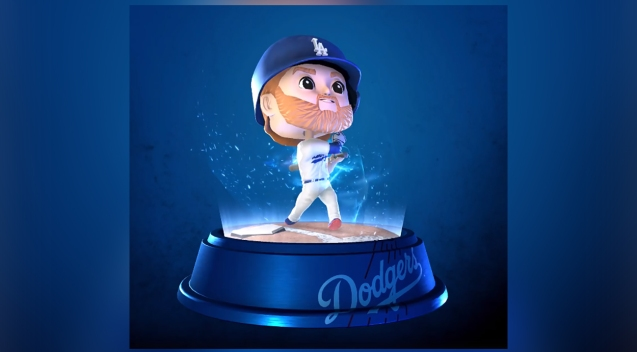 In a Dodger Stadium First, Digital Bobbleheads Join the Lineup
