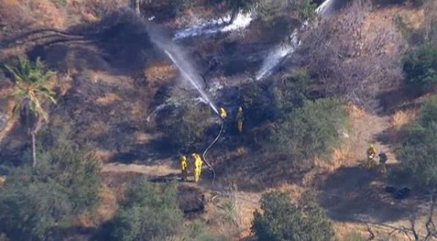 Fire Near Dodger Stadium Knocked Down