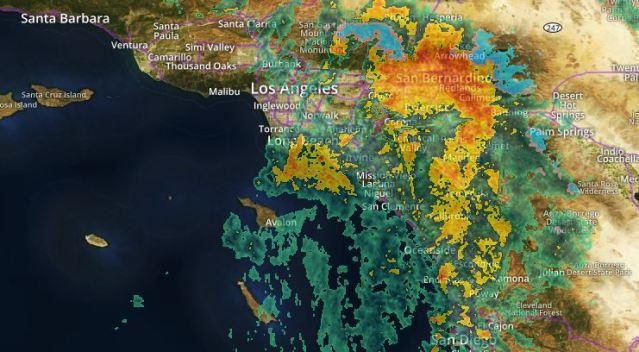 Overnight Downpours Drench Southern California