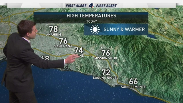 <p>As Memorial Day approaches, temperatures continue to rise around Southern California.&nbsp;David Biggar has your First Alert Forecast on Sunday, May 28, 2017.</p>