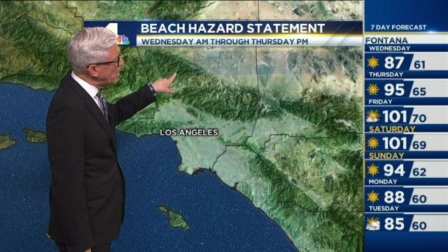 It's warming up in Southern California. Fritz Coleman has the forecast for the NBC4 News at 4 p.m. on Tuesday, May 31, 2016.