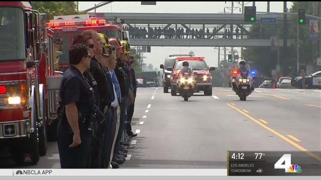 Firefighters Honor LAFD Colleague Who Fell From Ladder in Training