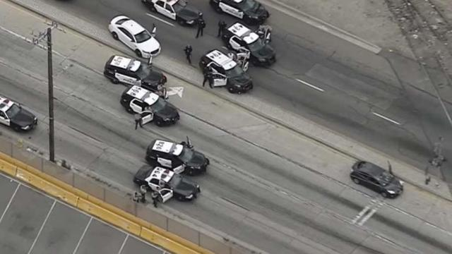 Passenger in Prius Opens Fire at Officers During High-Speed LA