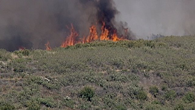 Brush Fire in Castaic: June 8, 2012