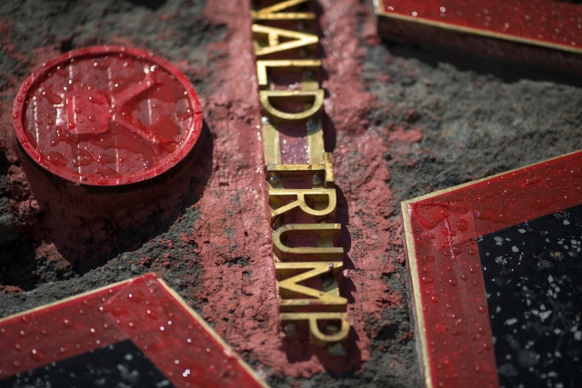 Repairs Nearly Complete on Trump Walk of Fame Star