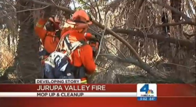 [LA] Crews Mop Up Jurupa Valley Fire