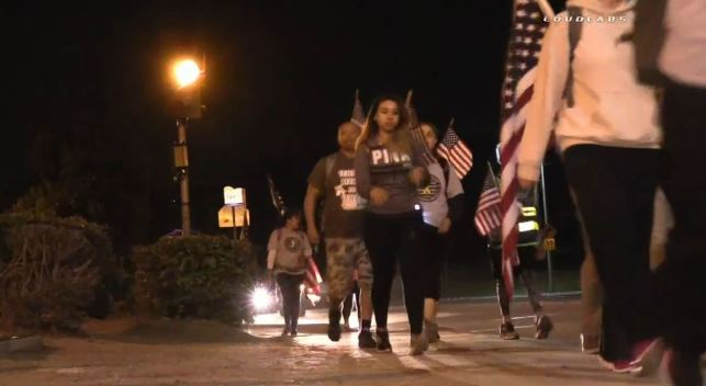 Vet, Families, Active Service Members Walk 40 Miles for Vet Suicide Awareness