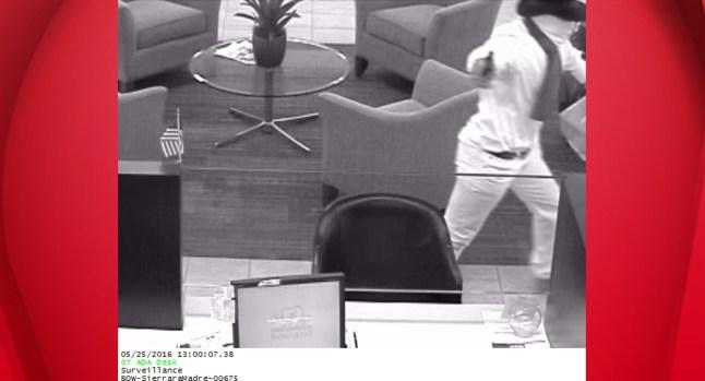 Sierra Madre Bank Robber Sought