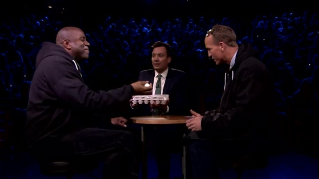 Peyton Manning Plays Egg Russian Roulette
