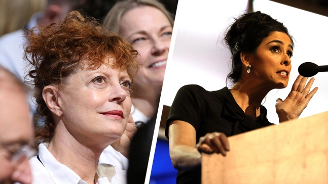 Susan Sarandon, Sarah Silverman Ignite DNC Celebrity Bern
