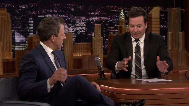 'Tonight': Seth Meyers Talks Son's Apartment Lobby Birth