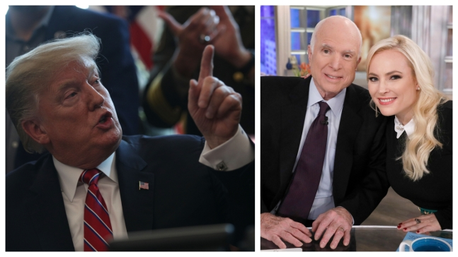 'He Will Never Be a Great Man': McCain Responds to Trump Dis