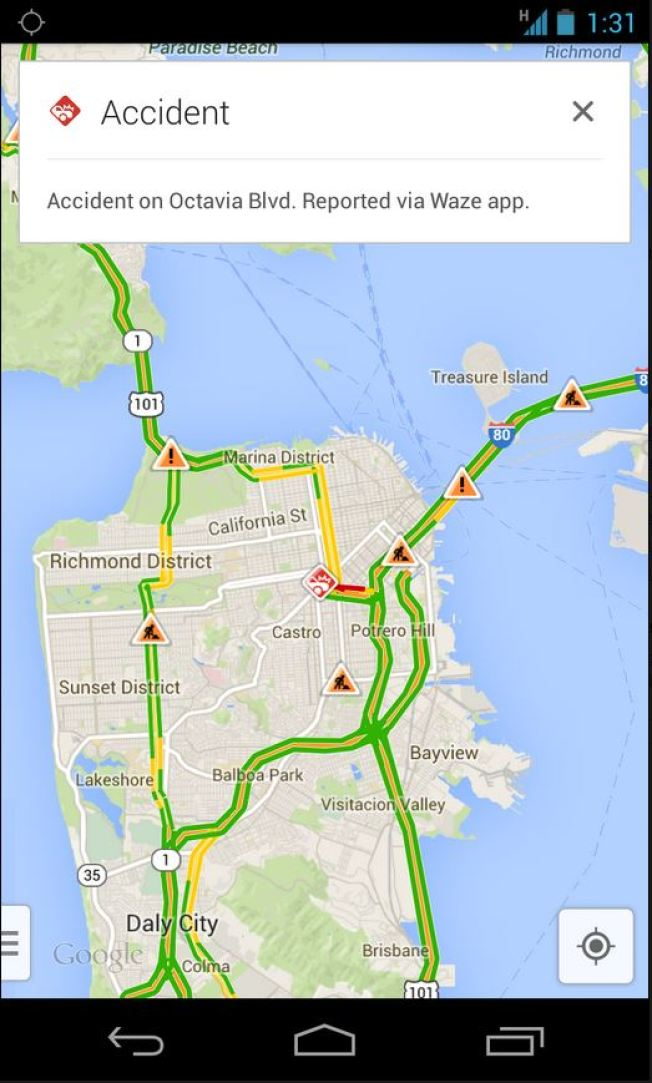Richmond Traffic Map.Google Maps Integrates Waze Traffic Reports Nbc Southern California