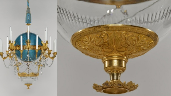 See a Goldfish Bowl Chandelier, at The Getty Center