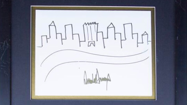Trump Drawing of NYC Skyline Goes Up for Auction