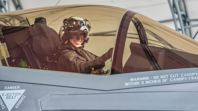 Woman Becomes 1st Female Marine to Pilot F-35B Fighter Jet