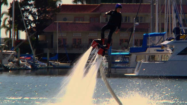 Newport Boaters Blown Back by Water Jetpacks