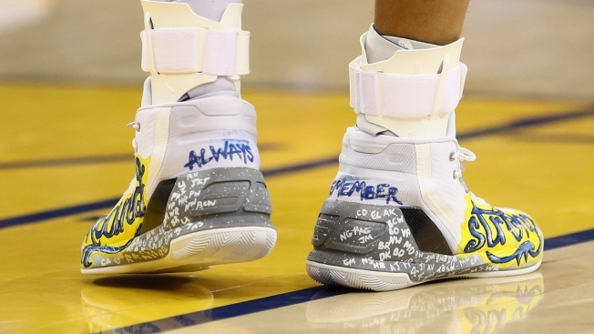Steph Curry Auctions Sneakers for Oakland Fire Relief Fund