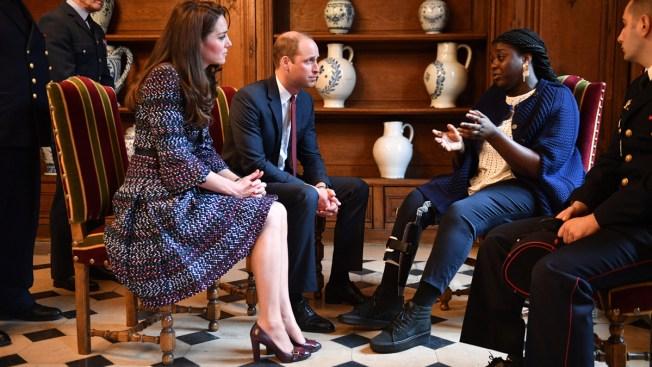 Prince William, Kate Meet Survivors of Paris 2015 Attacks