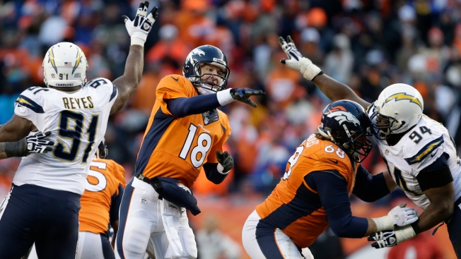 Manning, Broncos Beat Chargers 24-17