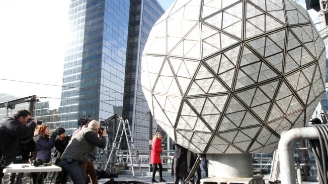 Times Square Preps for New Year's Eve Bash