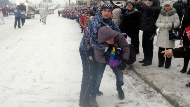 Gay Russian Protester Detained at Olympic Relay