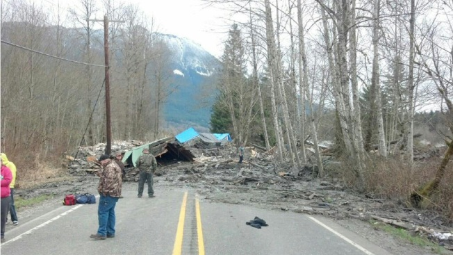 California Search-Rescue Team Members Respond to Washington Mudslide