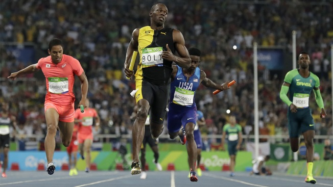 Usain Bolt Wins 3rd Rio Gold Medal, Giving Him 9 for Career