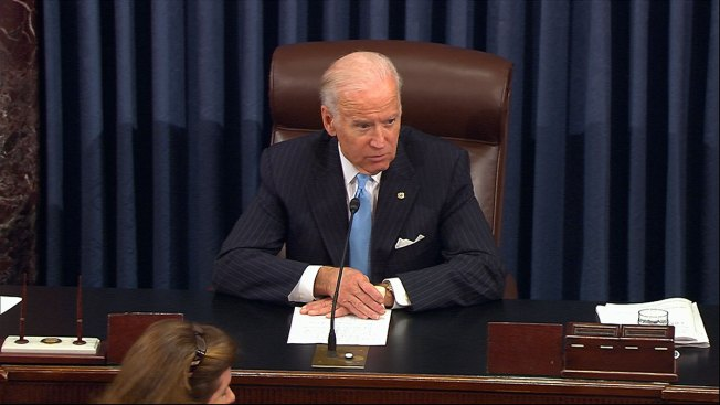 Biden Emotional at Vote on Cancer Funding Bill Partly Named for Son Beau