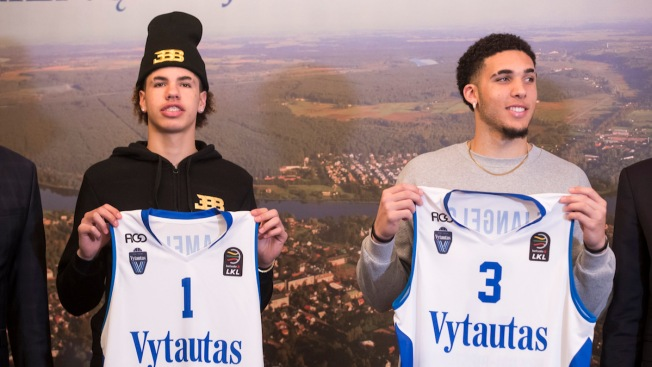 Finally On Court in Lithuania, Ball Brothers Eager to Play