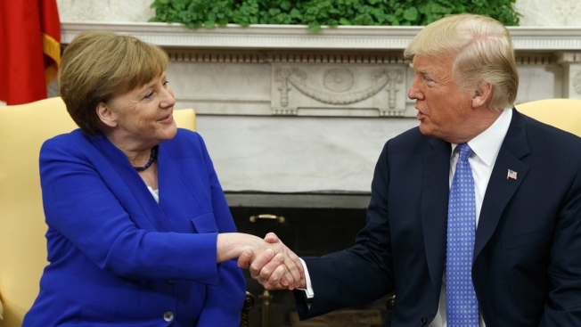 Trump, Merkel Cordial, But No Apparent Movement on Iran