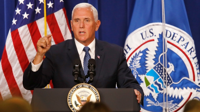 Pence Defends ICE Agency, Slams Democrats Who Called for Its Abolition