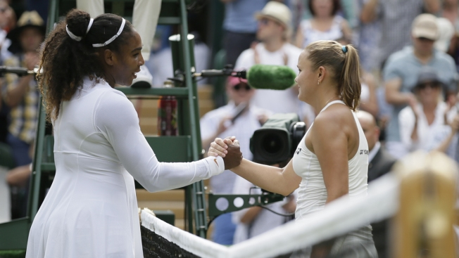Serena Williams Wins Rare Mom vs. Mom Match at Wimbledon