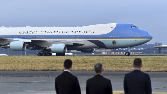 Air Force One Is Going From Baby Blue to Red, White and Blue, Trump Says