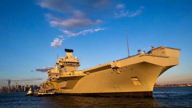 Largest Ship Ever Built for British Navy Visits US