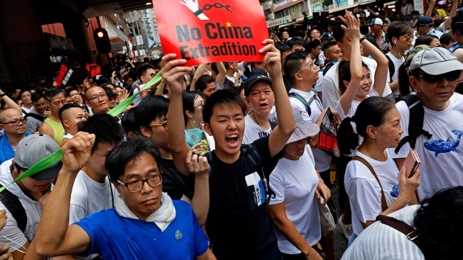 Massive Extradition Law Protest Fills Hong Kong Streets