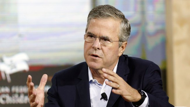 Protesters Heckle Jeb Bush in Houston