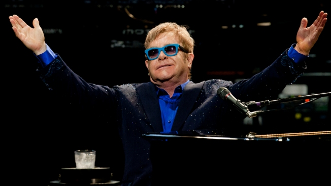 Elton John Performs Free Concert on Sunset Strip
