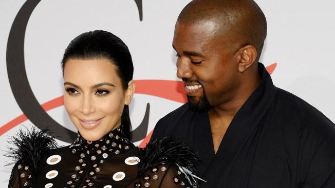 Kanye West Photobombs Kim Kardashian and Hillary Clinton