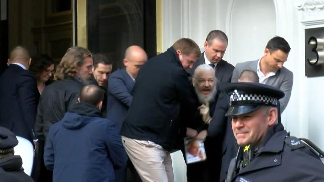 Image result for julian assange carried away
