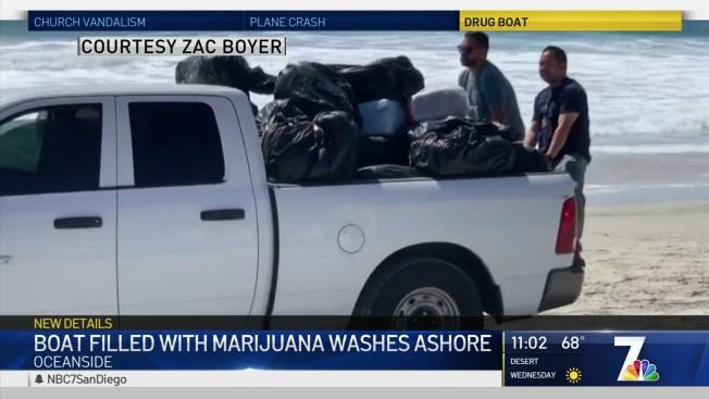 Boat Filled With Marijuana Washes Ashore