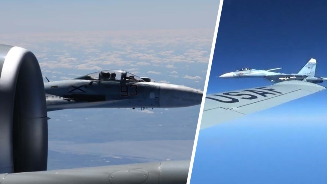 Newly Released Photos Show 'Unsafe' Russian Jet Feet From US Recon Plane