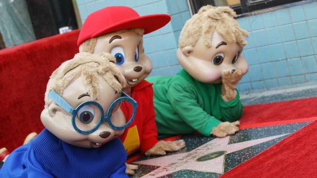 Alvin and the Chipmunks Receive Hollywood Walk of Fame Star