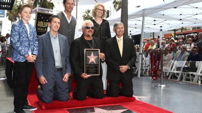 Guy Fieri Receives Walk of Fame Star