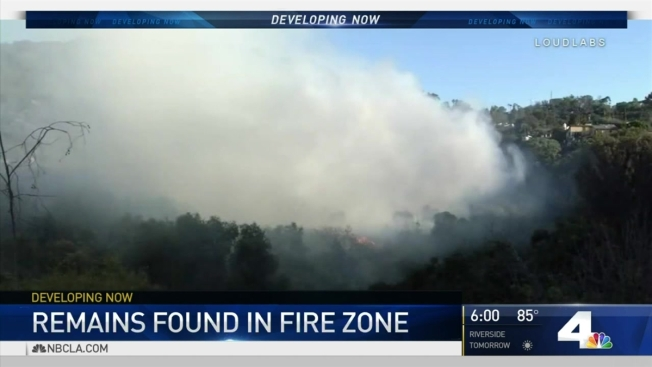 Possible Human Skull Found After Brush Fire in Sherman Oaks - NBC